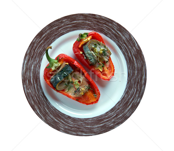 Piedmontese peppers - Stock photo © fanfo