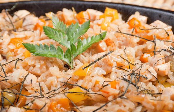 Kínai étel kínai konyha étel méz zöldség Stock fotó © fanfo