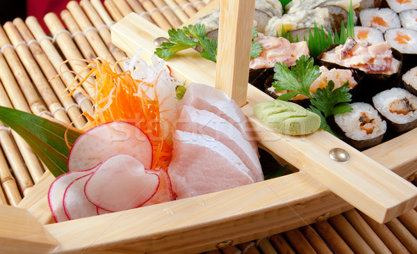 Sushi comida japonesa navio tradicional peixe mar Foto stock © fanfo