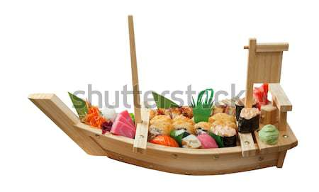 Foto stock: Sushi · comida · japonesa · navio · isolado · branco