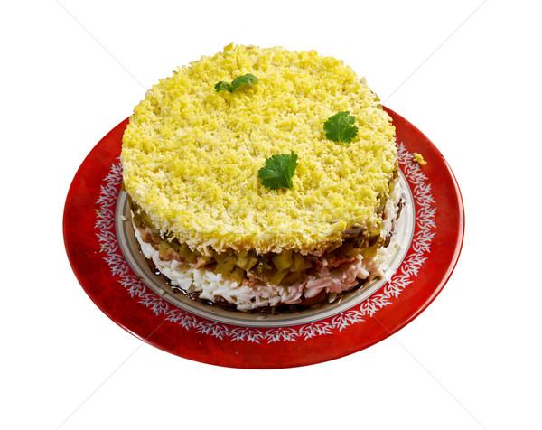 Салат печень продовольствие рыбы кухне Сток-фото © fanfo