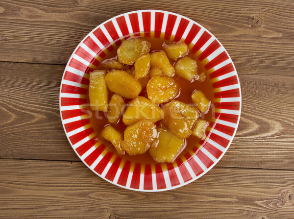 Azucarado dulce patatas fondo postre Foto stock © fanfo