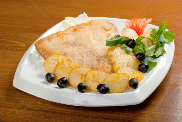 roasted plaice with potatoes Stock photo © fanfo