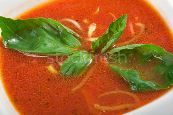 Tomato soup in ceramic bowl Stock photo © fanfo