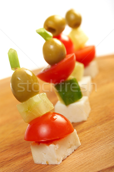 Canape platter with cheese, Stock photo © fanfo