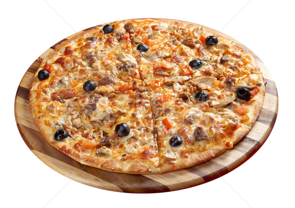 Pizza gyömbér marhahús olasz konyha stúdió Stock fotó © fanfo