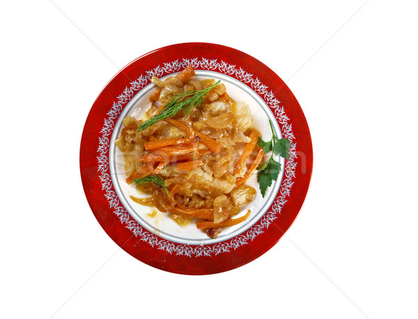 Escabeche  or fried fish  Stock photo © fanfo