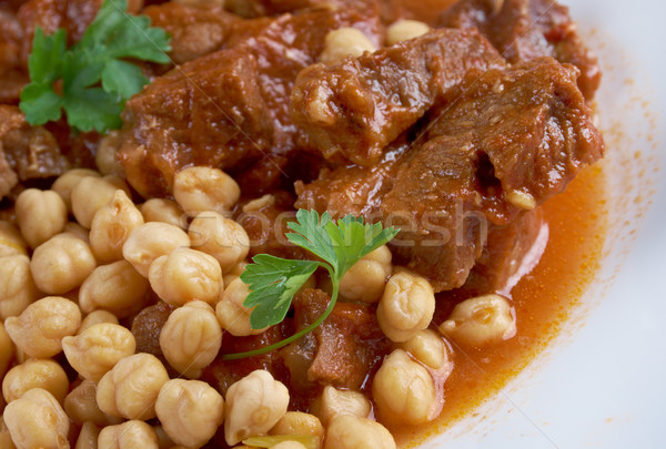 Chtitha Lham – Lamb in a Red Sauce Stock photo © fanfo
