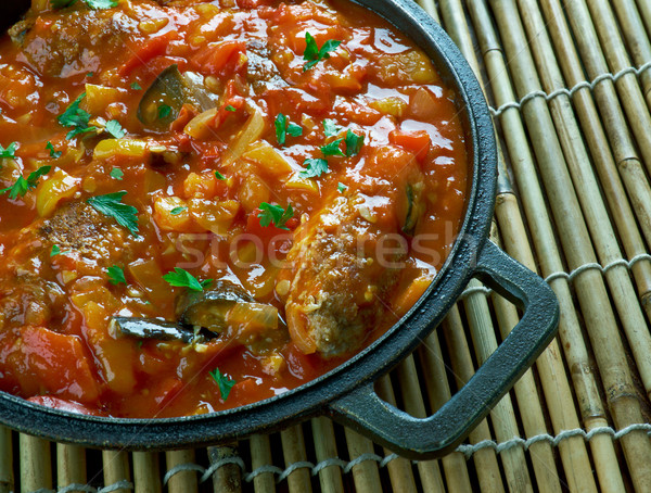 Turkish kofte  with vegetables Stock photo © fanfo