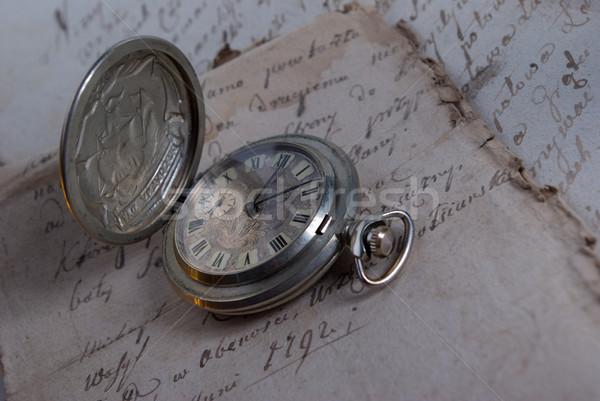 Courant temps vieux affaires rétro regarder Photo stock © fanfo