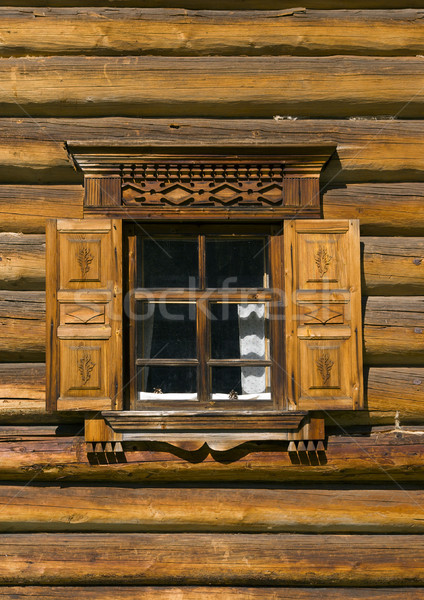 Finestra russo tradizione legno architettura storia Foto d'archivio © fanfo