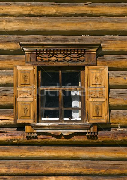 окна русский традиция древесины архитектура история Сток-фото © fanfo