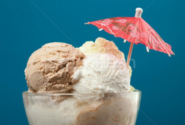 Fagylalt üveg váza közelkép kék csokoládé Stock fotó © fanfo