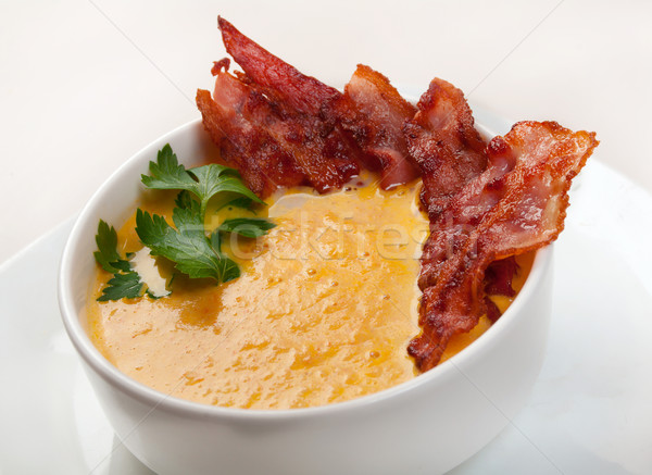 Affumicato carne zuppa isolato bianco Foto d'archivio © fanfo