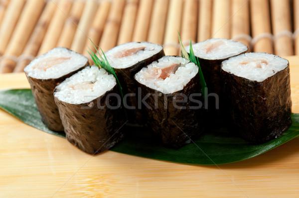 日本語 寿司 伝統的な 薫製 魚 海 ストックフォト © fanfo