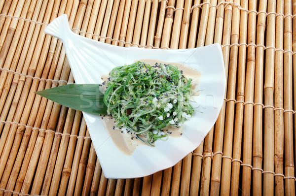 Salade zeewier voedsel plaat schotel Stockfoto © fanfo