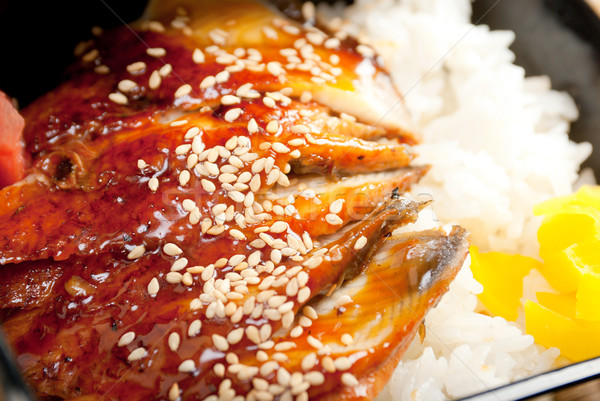 broiled eel on rice. unagi  Stock photo © fanfo