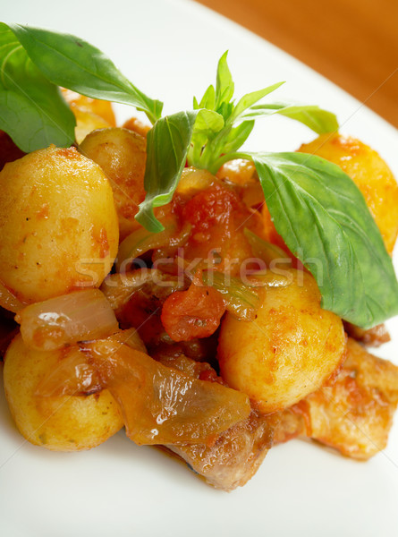 roast of veal with potatoes Stock photo © fanfo