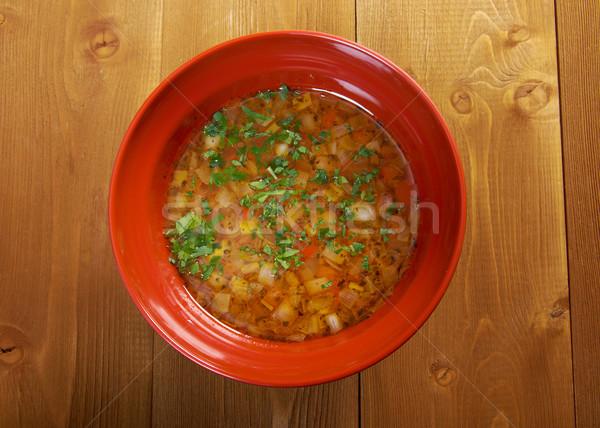hot fresh Minestrone soup Stock photo © fanfo