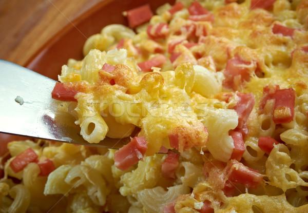 Sült tészta sajt sonka friss étel Stock fotó © fanfo