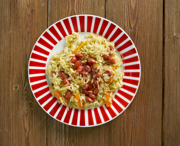 Stock fotó: Bab · hal · zöldségek · eszik · Ázsia · ebéd