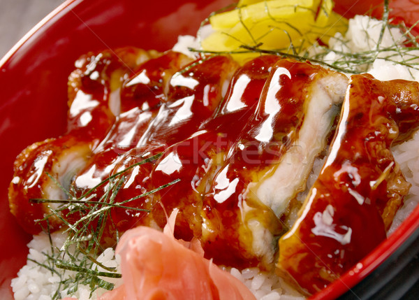 japanese food roast eel - unagi  Stock photo © fanfo