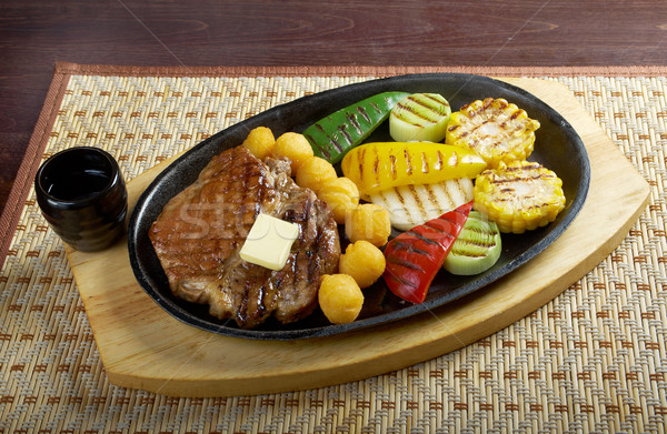 Japanese pork Steak Stock photo © fanfo