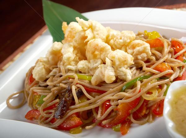 Carne tendão verde branco pimenta Foto stock © fanfo