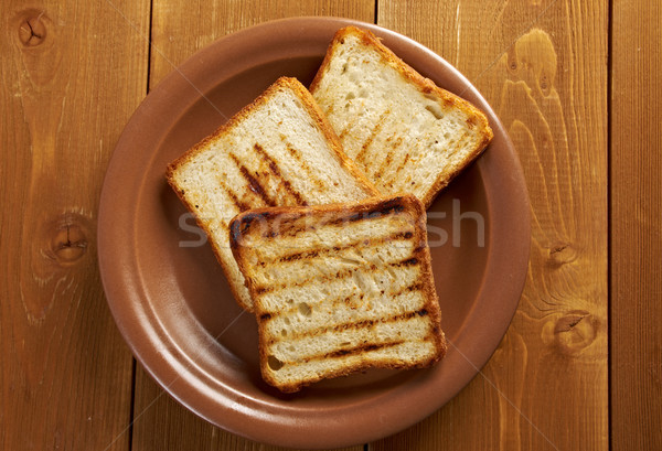 Geroosterd brood omhoog witbrood Stockfoto © fanfo