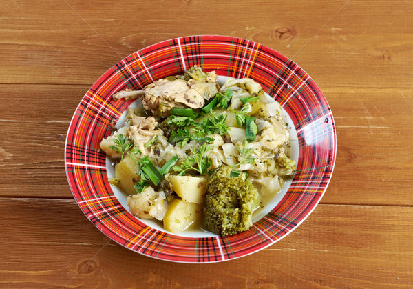 french stewed potatoes with chicken Stock photo © fanfo