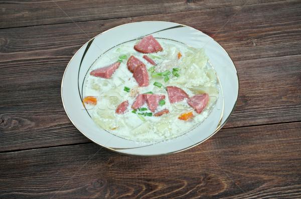 сливочный капуста суп колбаса овощей продовольствие Сток-фото © fanfo