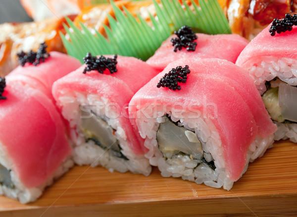 Conjunto japonês sushi tradicional comida japonesa peixe Foto stock © fanfo