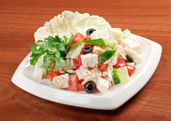 healthy salad with cheese Stock photo © fanfo