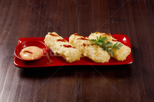 Zsemle tavaszi tekercs japán étel vacsora reggeli japán Stock fotó © fanfo