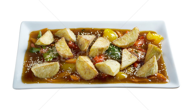 stewed mutton with vegetable Stock photo © fanfo