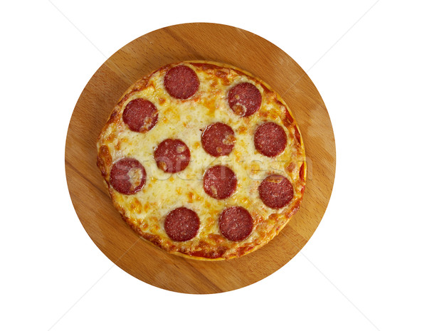 ストックフォト: 自家製 · ピザ · チーズ · トマト · ランチ · 高速
