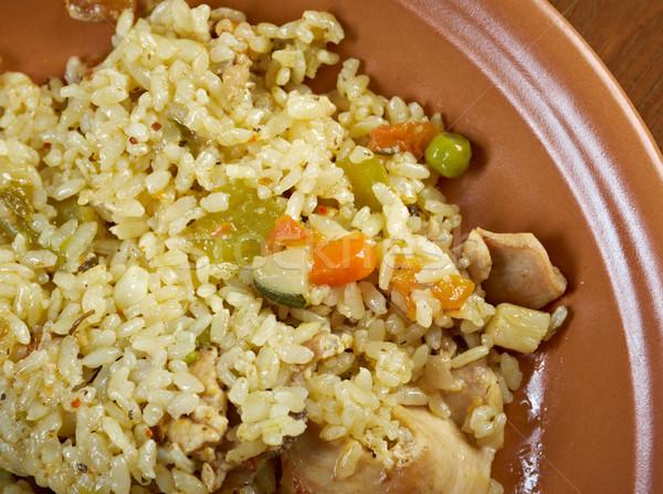 Stock fotó: Tyúk · hús · zöldségek · bors · sárgarépa · zöldség