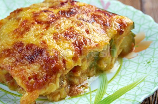 Parmigiana di zucchine Stock photo © fanfo