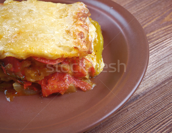 野菜 ラザニア 自家製 トマト パプリカ ストックフォト © fanfo