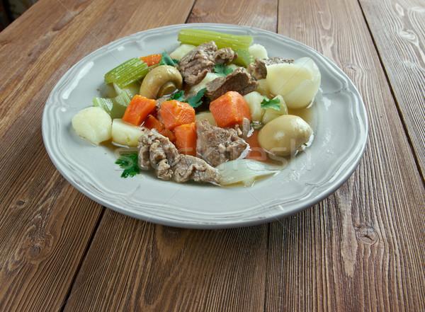 アイルランド シチュー 豚肉 食品 スープ 野菜 ストックフォト © fanfo