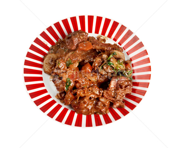 Beef bourguigno Stock photo © fanfo