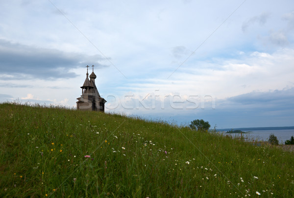 Wooden chapel St. Nicholas Stock photo © fanfo
