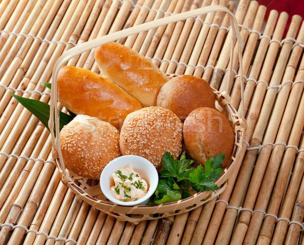 Bread in braided basket Stock photo © fanfo
