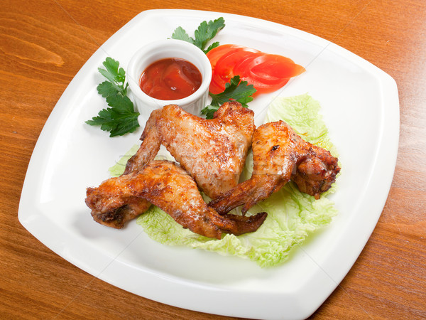 chicken wings with vegetable Stock photo © fanfo