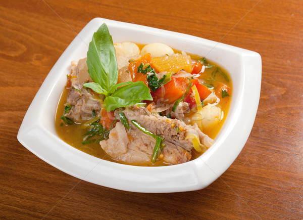 .soup with beef Stock photo © fanfo