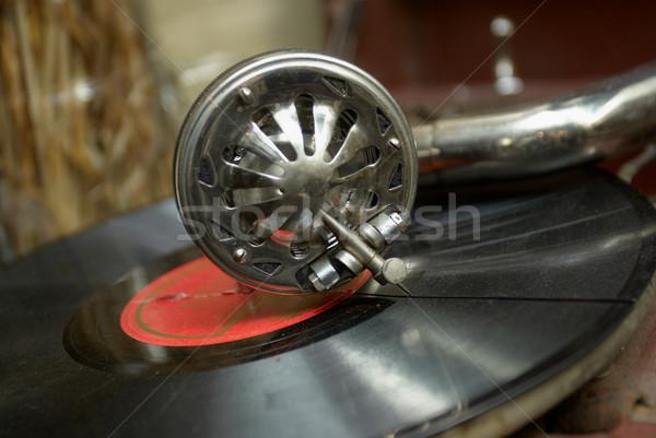 Stock fotó: Retro · öreg · gramofon · játszik · zene · koncert