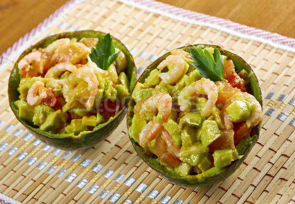 Avocado and Shrimps Salad Stock photo © fanfo
