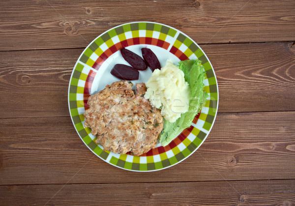 Traditionnel plat similaire goût cohérence bouilli Photo stock © fanfo