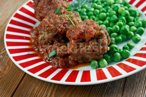 伝統的な 皿 豚 中心 肝臓 脂肪 ストックフォト © fanfo