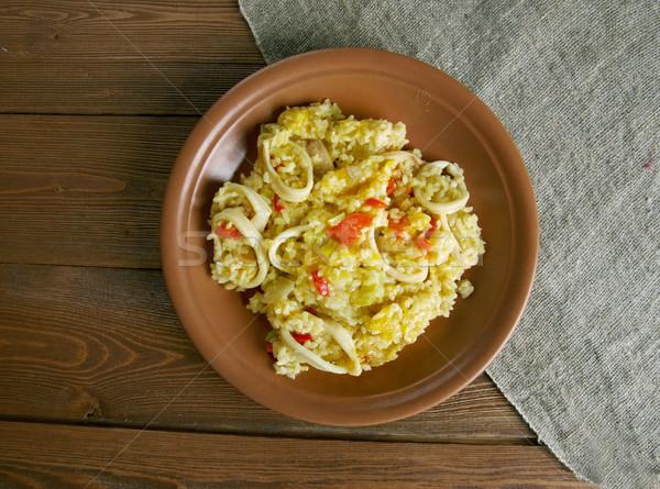 Kałamarnica dynia słodkie papryka warzyw posiłek Zdjęcia stock © fanfo